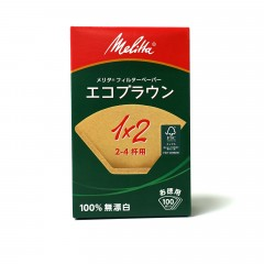 ◎ Melitta 1x2濾紙 2-4杯用 100入