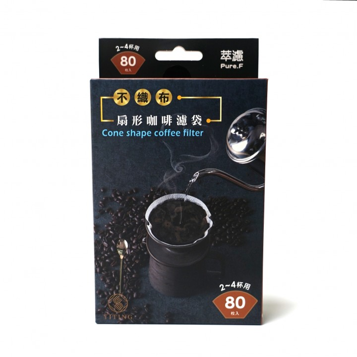 ◎不織布咖啡濾袋-扇形 2-4杯用 80入