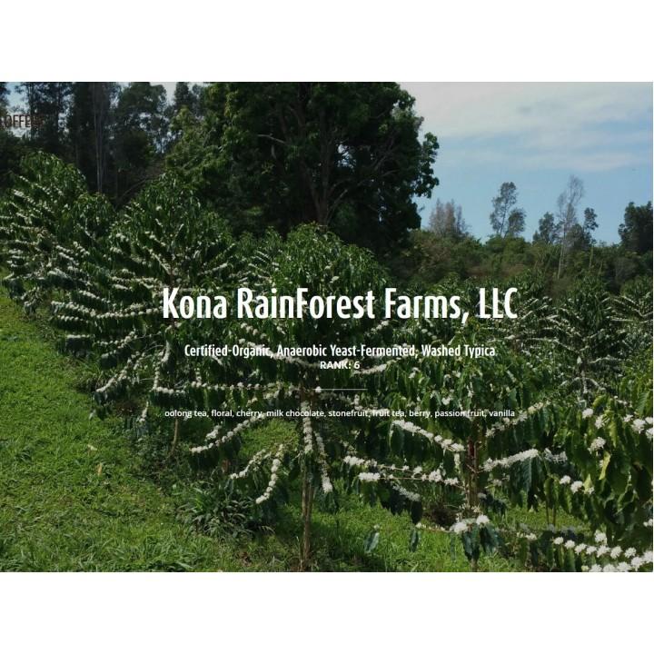 美國夏威夷可那 2021典藏競標批次第6名 可那雨林農場 有機鐵皮卡種 水洗厭氧發酵